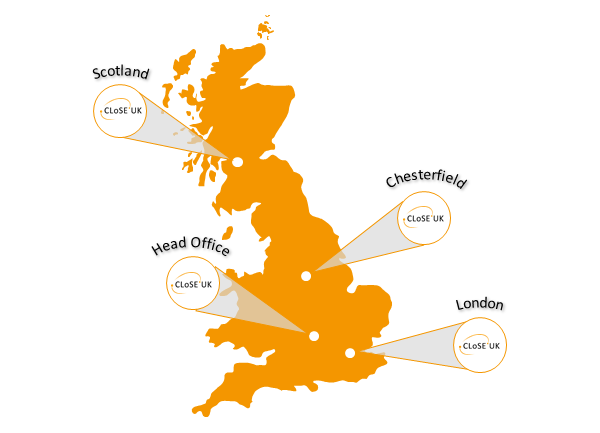 CLoSE UK office locations